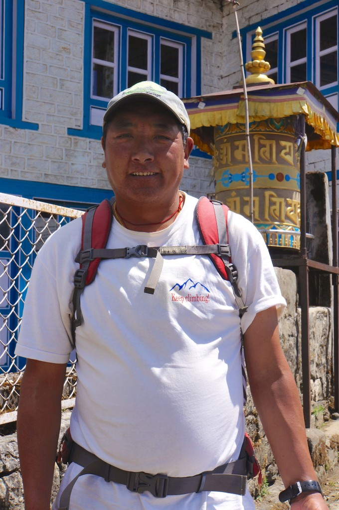 Phinjo is a very accomplished Himalayan mountain guide, and we are excited to get to climb with him.