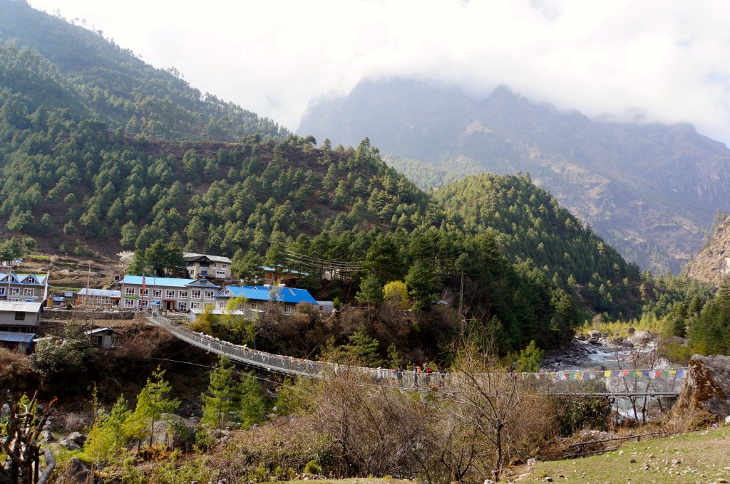 Our tea house sits across the Dudh Kosi river in Phakding.