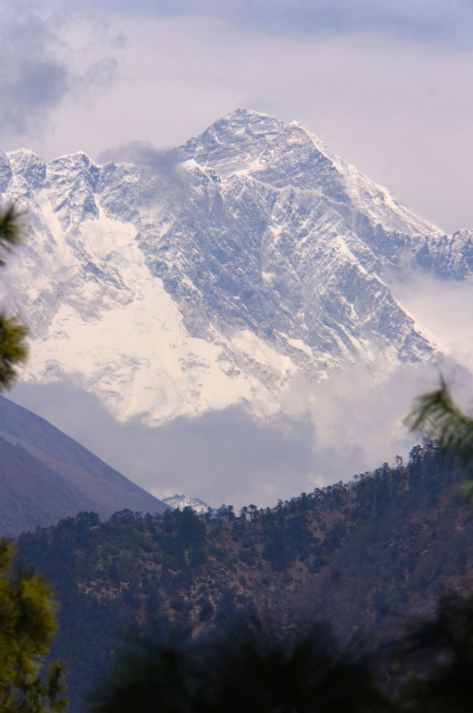 Seen from the trail to Namche.  Tall, cold, and beautiful.