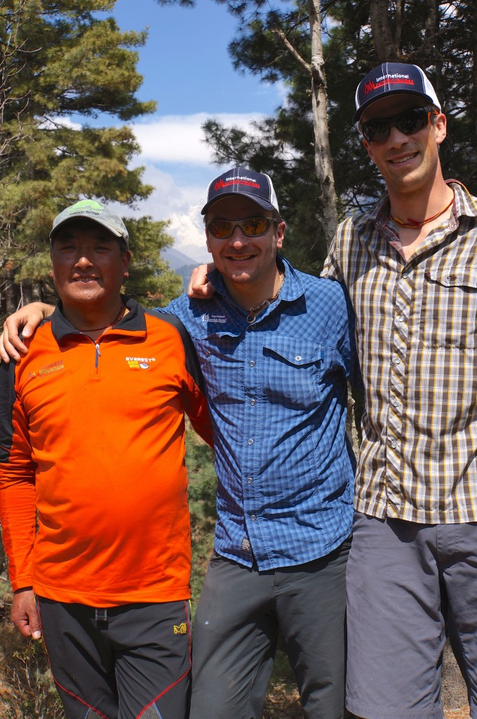 Three of our amazing guides, Phinjo Sherpa, Andy Polloczeck, Justin Merle.