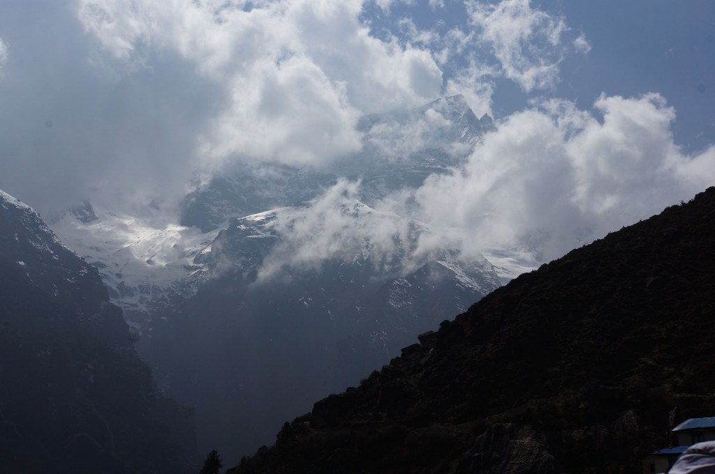 Tall summits and ramparts surround Namche.  The views are amazing!
