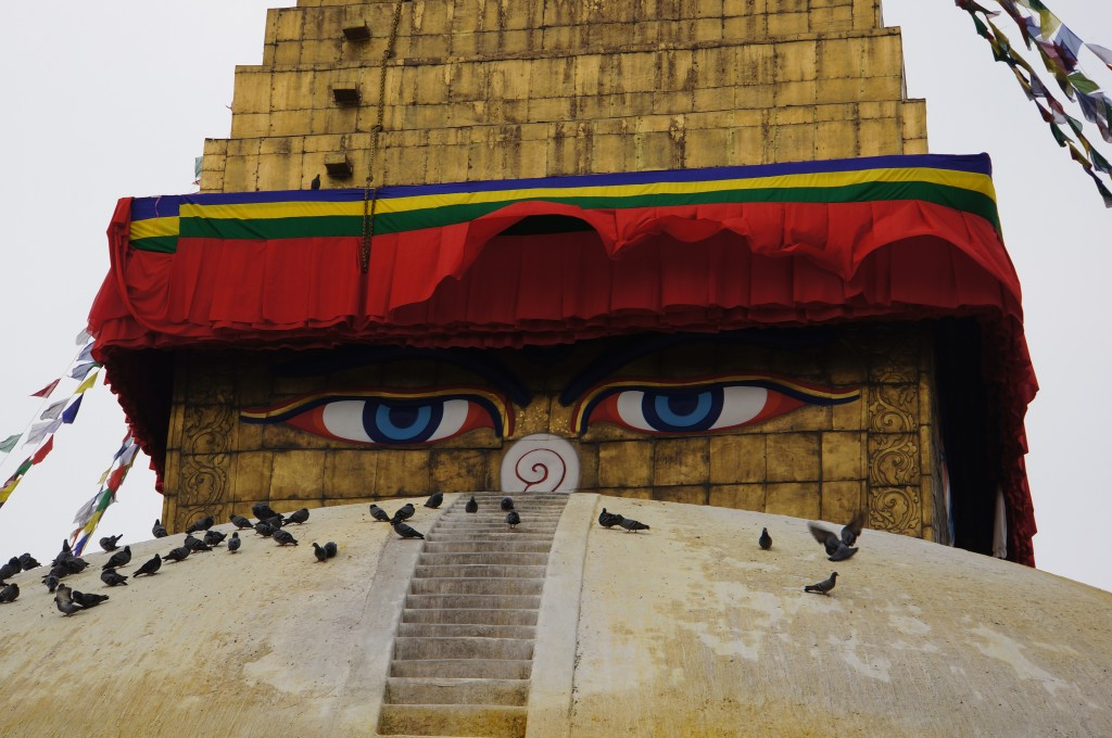 The eyes of Buddha are watching.