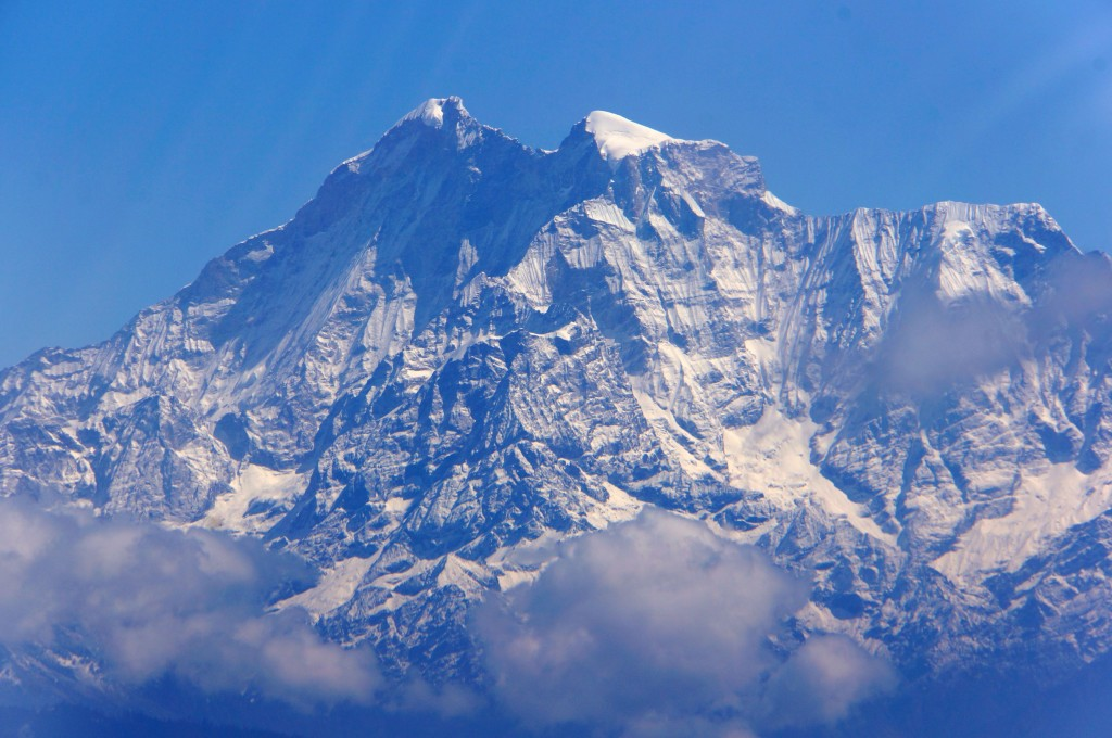 ...Or this one.  But, impressive!  Everest was blocked from view by this rampart of circa 6,000 meter peaks.