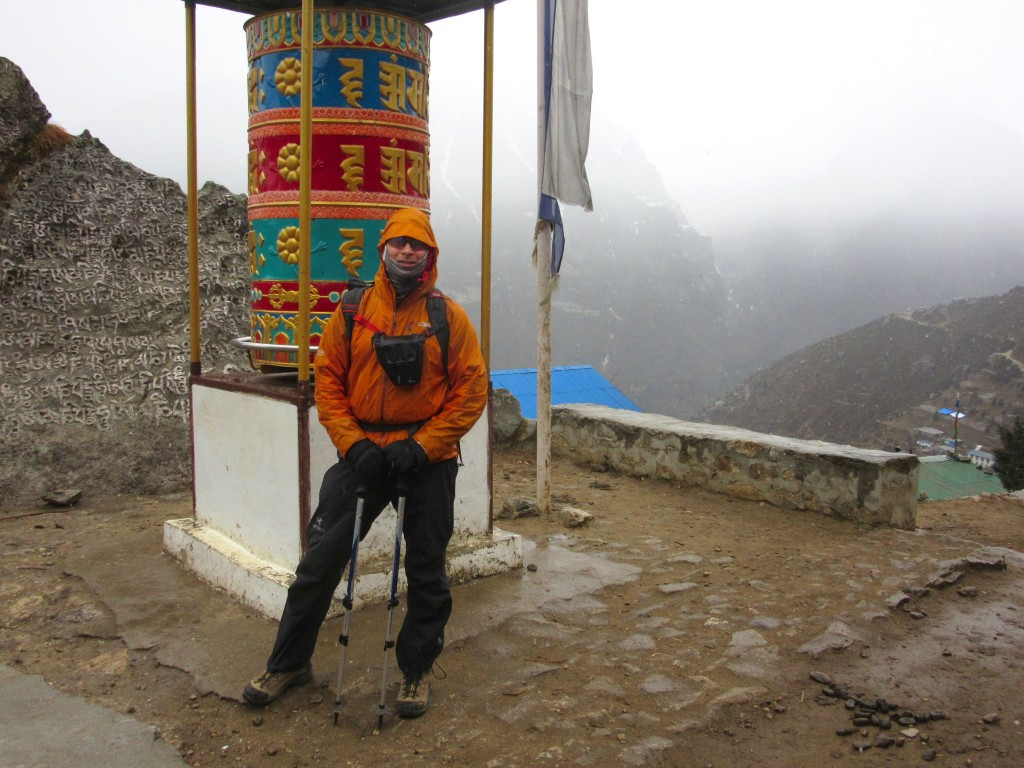 Prayer wheel at top of Namche.  (Photo: Wayne Piett)