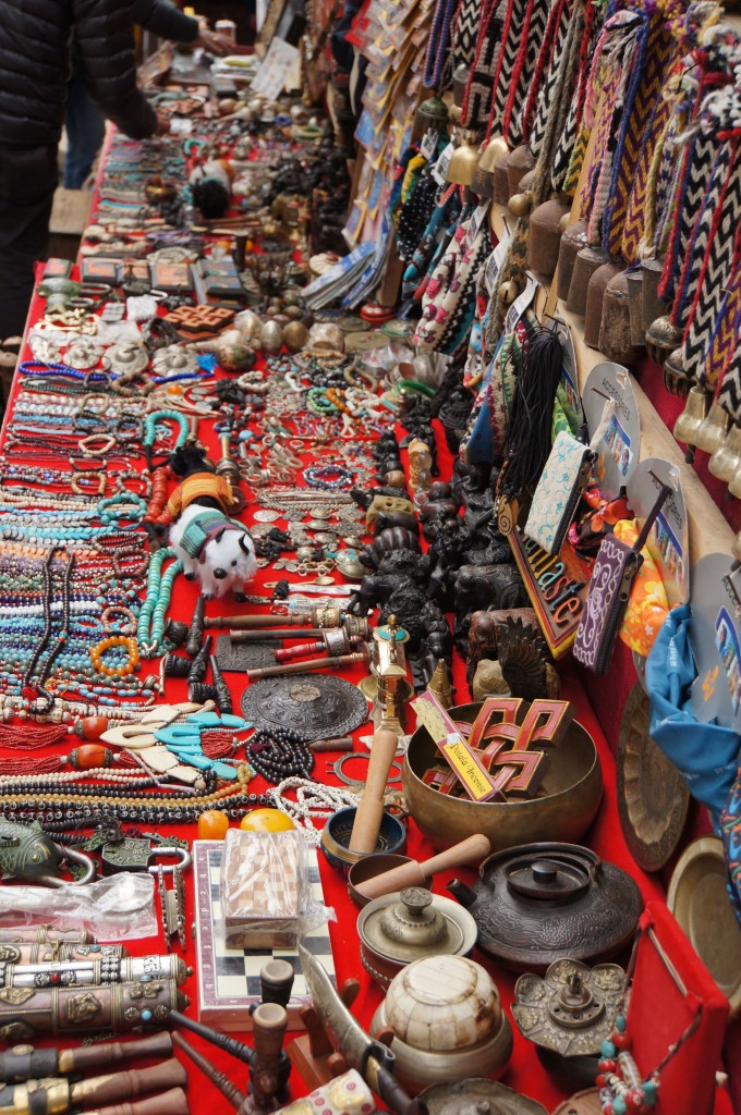 Lots of handicrafts for sale in Namche.  Wish I could bring all this stuff home....