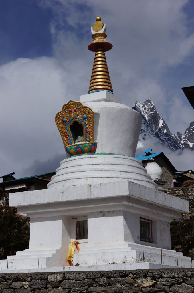 A small stupa outside the monastery.