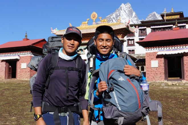 Two of our wonderful and enthusiastic sherpa team members.