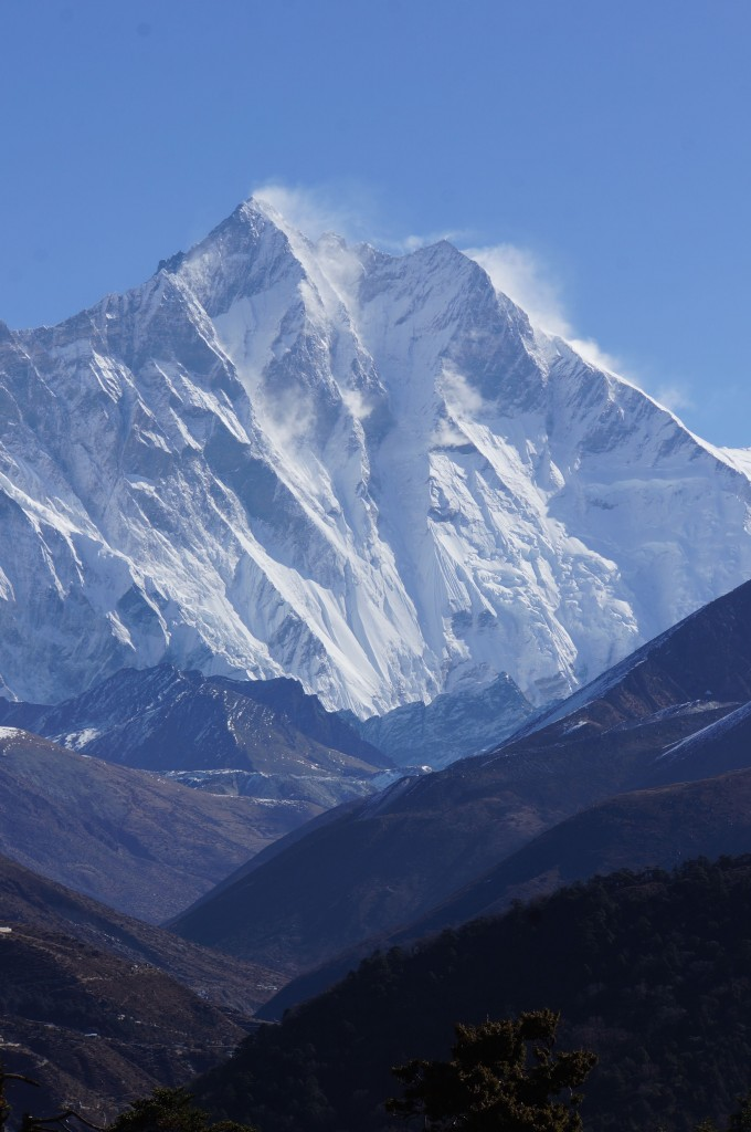 Winds ripping off Lhotse.
