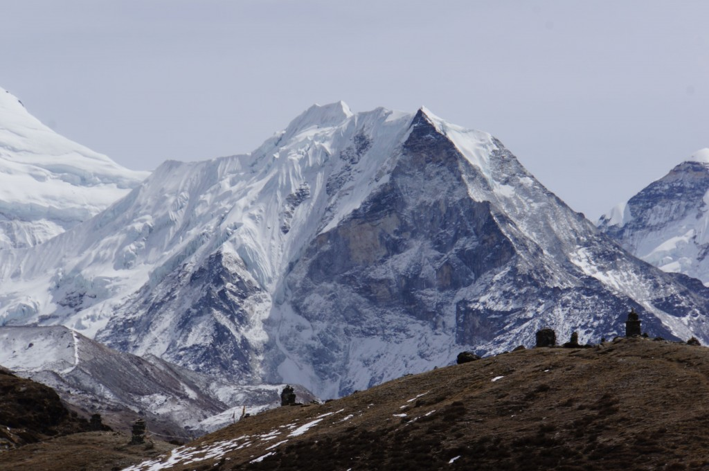 Island Peak, a lone sentinal in the middle of the upper valley, conquered by my friend Dave Fredricks some years ago.