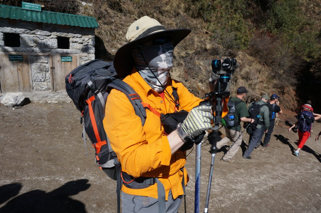 Yes, this is how I roll in the Khumbu. (Photo: Justin Merle)