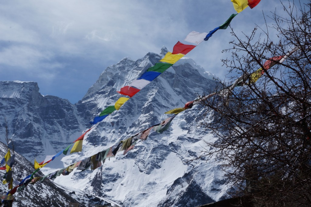 Prayer flags in the Khumbu. (Photo: Justin Merle)