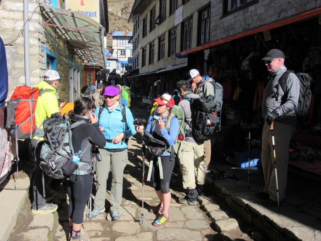 Team Awesome, geared up and psyched up for the trek to Tengboche.
