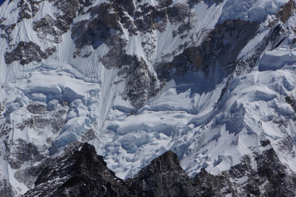 Closeup of some of the ice on Nuptse.  This is impressive.