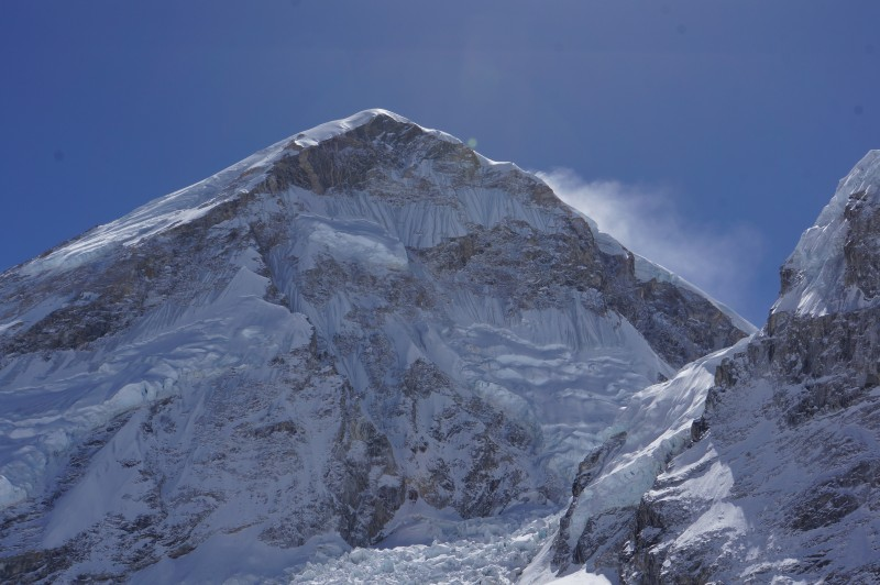Everest's West Shoulder watches us in EBC.