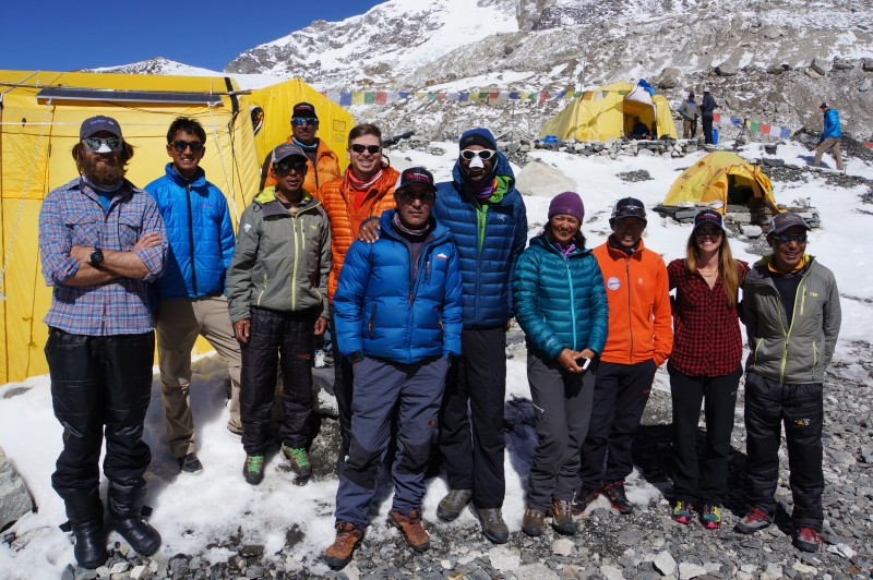 We meet our climbing Sherpas!  I am happy to climb with Pasang Kami, 6 summits of Everest under his belt already.