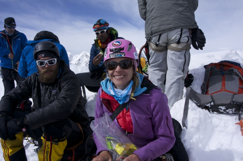 Happy times at 20,000 feet.  (Photo: Justin Merle)