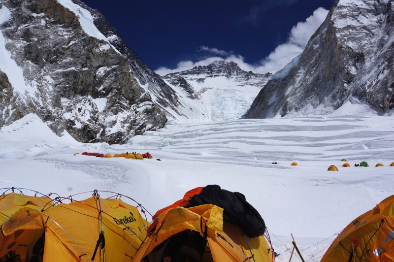 And here it is. C1, with Everest on the left, Lhotse at center, and Nuptse on the right.