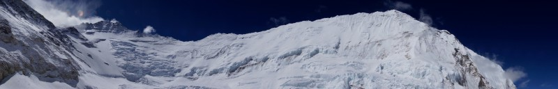 Panorama from C2 of Lhotse and Nuptse.