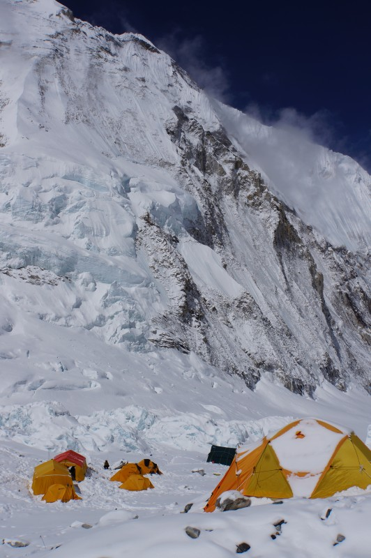 Still plenty of hanging glacier left on Nuptse's flank.