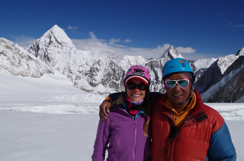 Kim and her wonderful Sherpa guide. (Photo: Kim Hess)