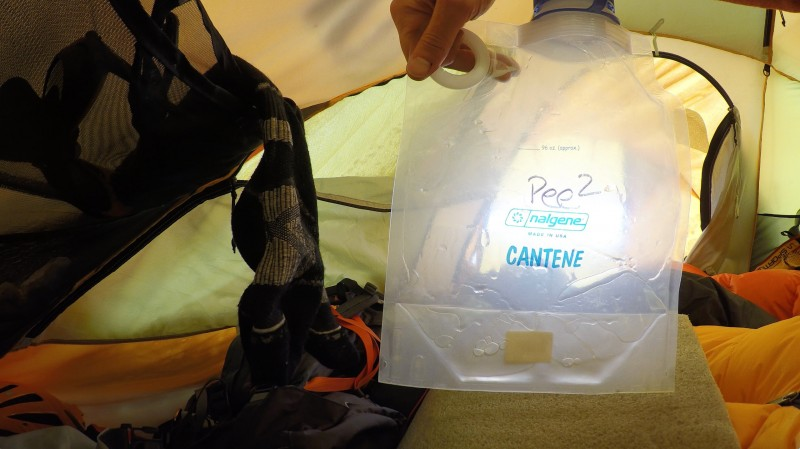 Best piece of gear on the expedition: The Pee Bottle.