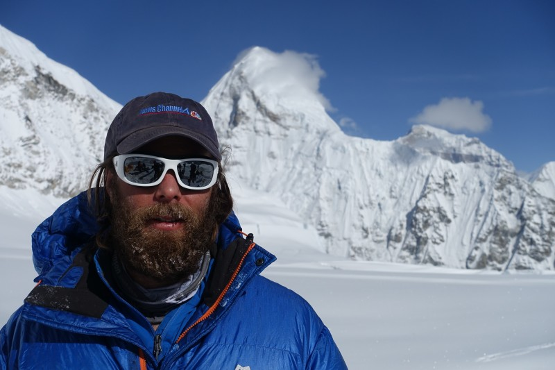 Blake bids adieu to the Cwm, Pumori in the background. (Photo: Blake Penson)