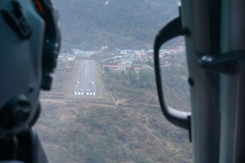 Lukla comes into view. (Photo: Justin Merle)
