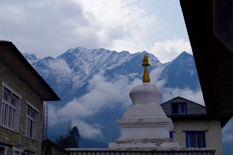 A stupa in Lukla. (Photo: Kim Hess)