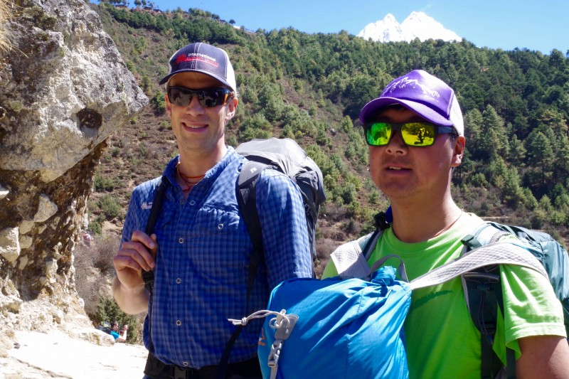 Justin Merle & Mingma Tenzing Sherpa, awesome IMG guides.. (Photo: Kim Hess)