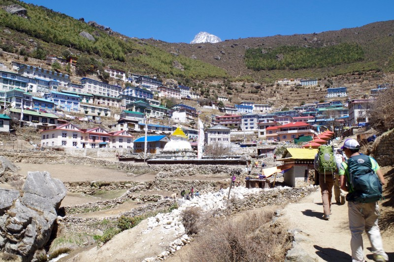 Namche Bazaar! (Photo: Kim Hess)