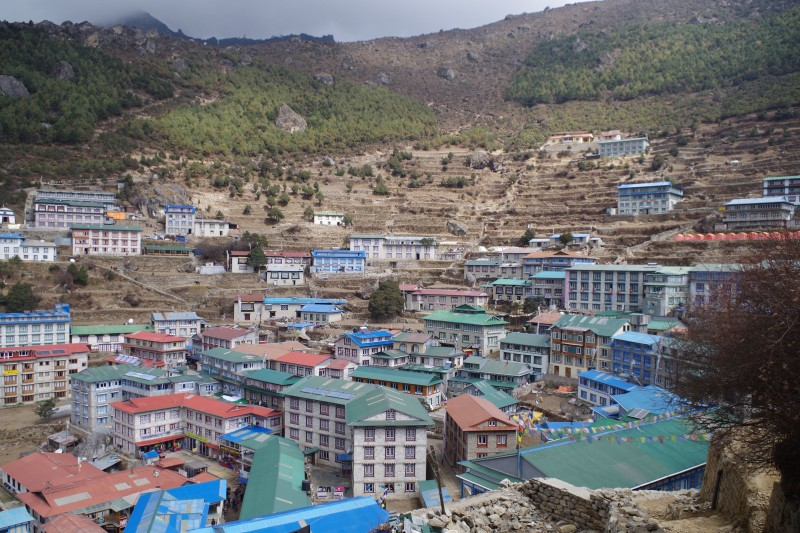 Another view of Namche.  (Photo: Kim Hess)