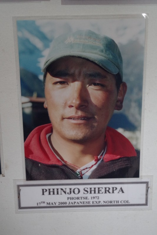 Phinjo Sherpa, our amazing guide from last year.