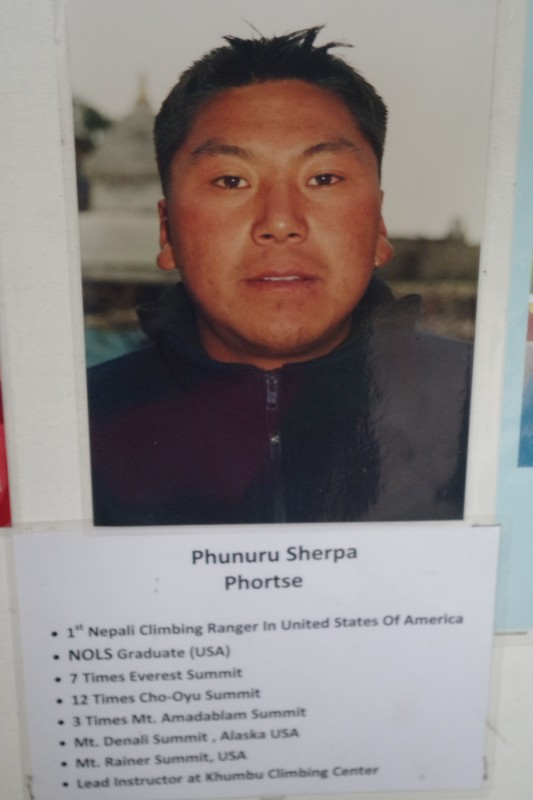 Phunuru Sherpa, our guide and friend.  We are eager to see him at EBC soon!