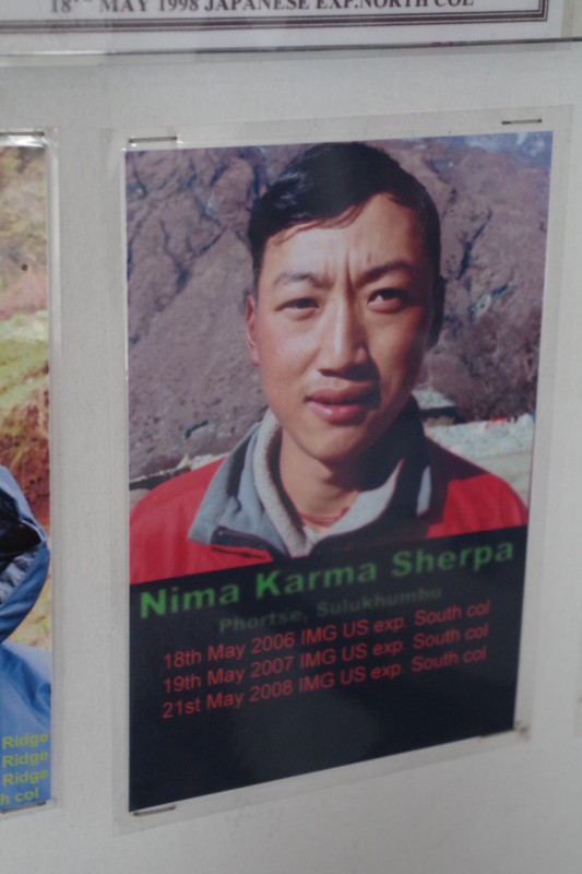 Nima Karma Sherpa, one of our guides from last year, and we were lucky to bump into him on the trail yesterday!
