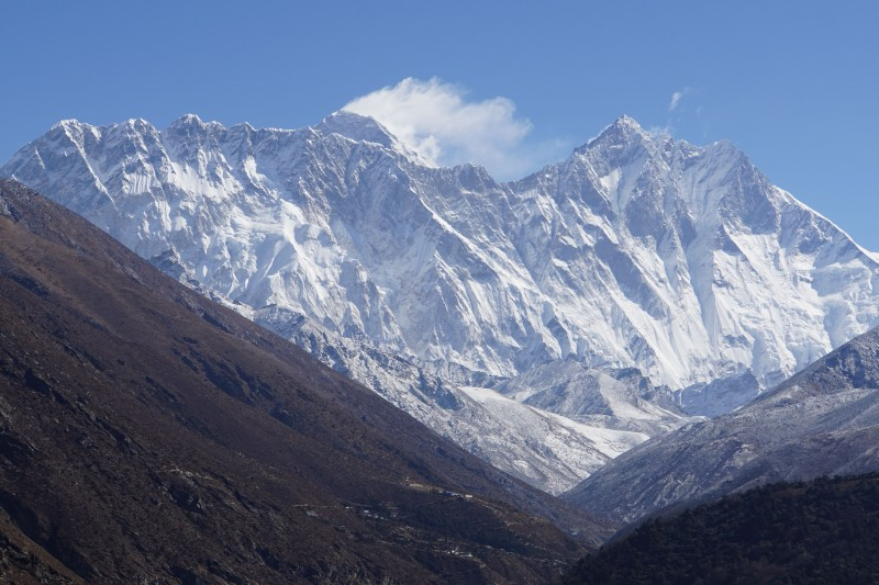 Nuptse, Everest, Lhotse, Lhotse Shar.  Awesome.