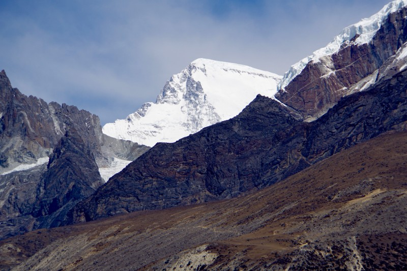 Cho Oyu, sixth highest peak on Earth, just over the Tibetan border.