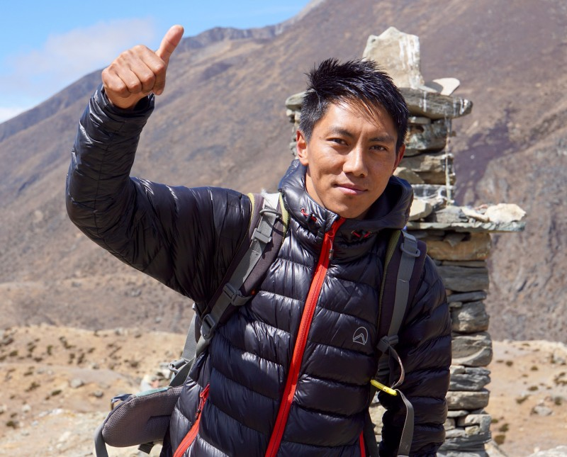 Nima Sherpa. Awesome guide, and owner of a tea house in Dingboche that was badly damaged in last year's quake...