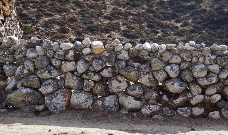 Stone fences... here is how it this fence looked today...