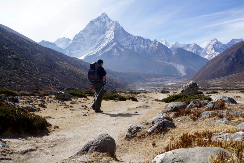 Yiorgos pauses to contemplate Ama Dablam.