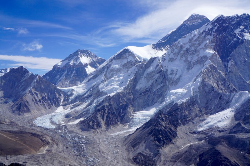 The greater Everest massif.