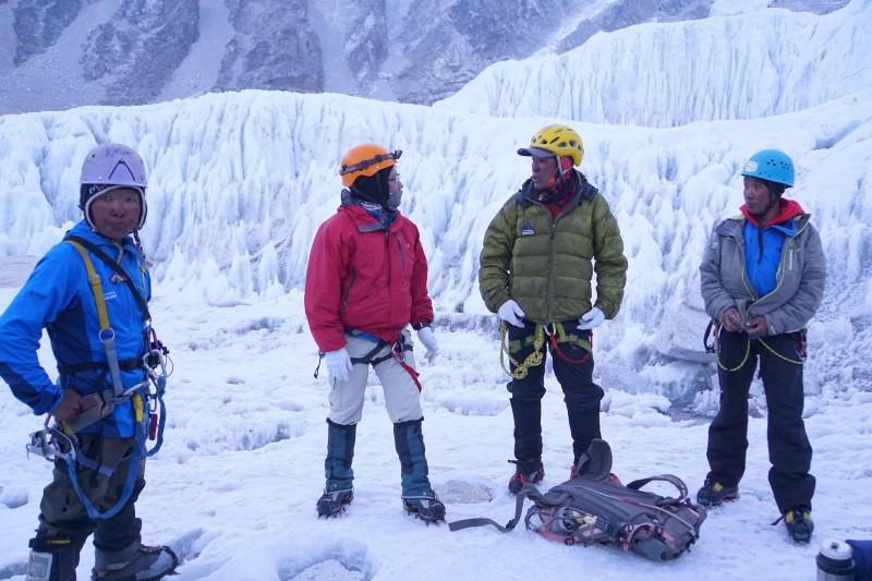 Some of our amazing Sherpa team mates: Ang Pemba, Mingma Dorjee, Pemba Gyalzen, and Pasang Kami.