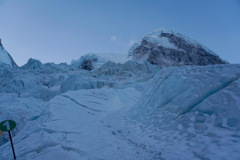 This year it runs a bit closer to Nuptse than last year in certain places, which has some advantanges for us.