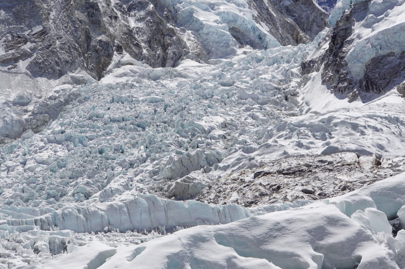 The Khumbu Icefall, our target for tonight.