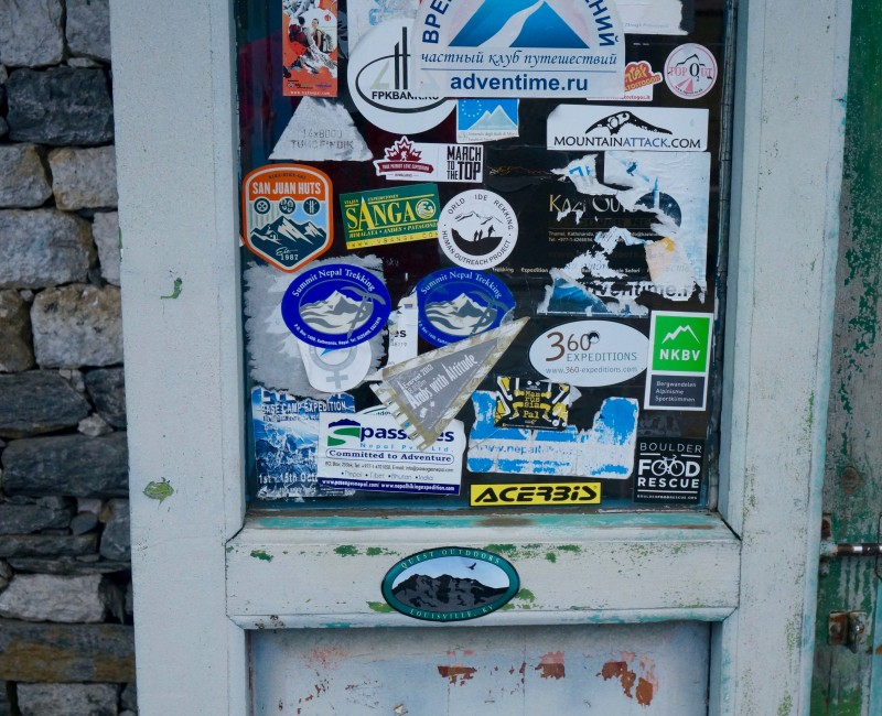 The coffee shop door... A popular joint.  (Photo: Justin Merle)