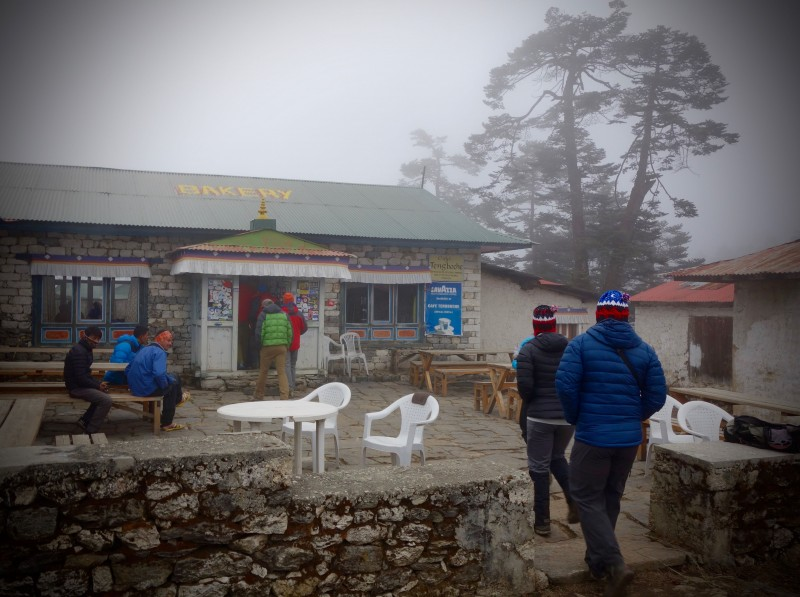 Our favorite distraction in Tengboche: the bakery. (Photo: Yiorgos Mikris)