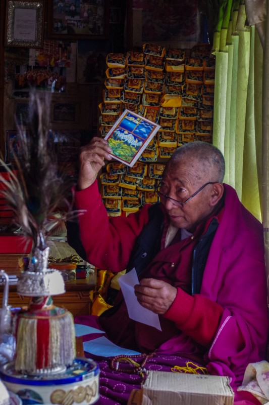 Lama Geshi exhorts us to carry this card to the summit, to speed our safe passage from the mountain goddess.