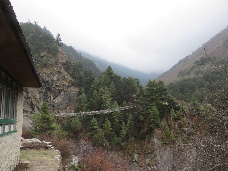 The bridge leading up to Tengboche. (Photo: Theresa Hagerty)