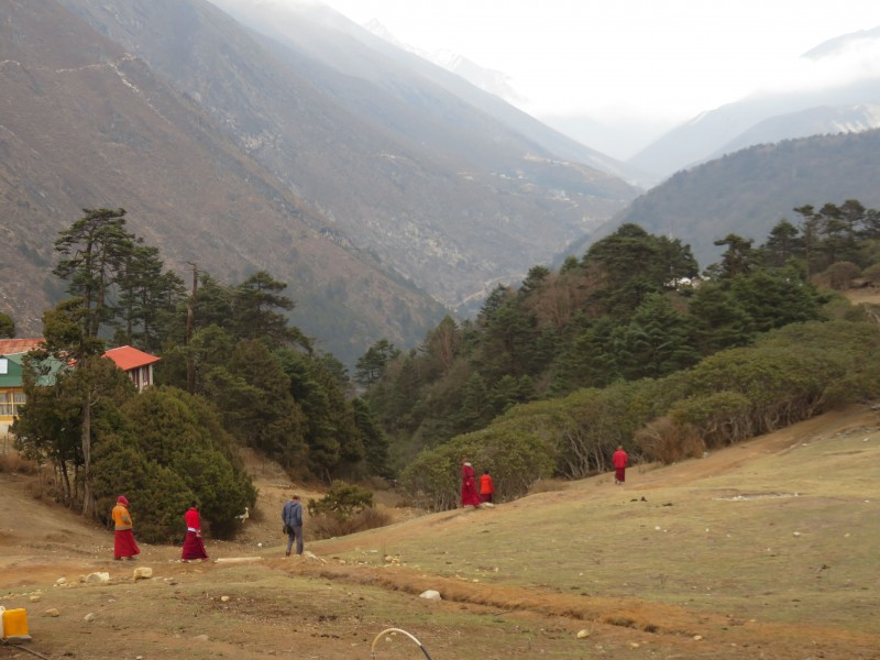 What do monks do after evening prayers?  Soccer, of course.  (Photo: Teresa Hagerty)