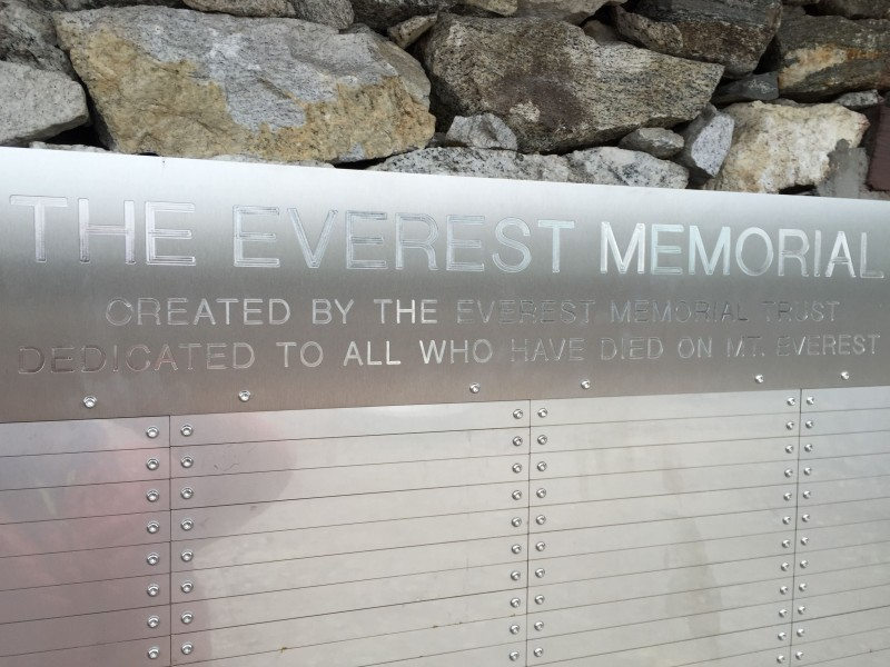 The expansion area of the Everest Memorial.