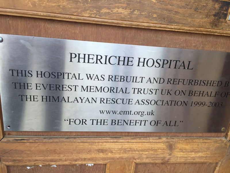 The Pheriche Hospital's front door.